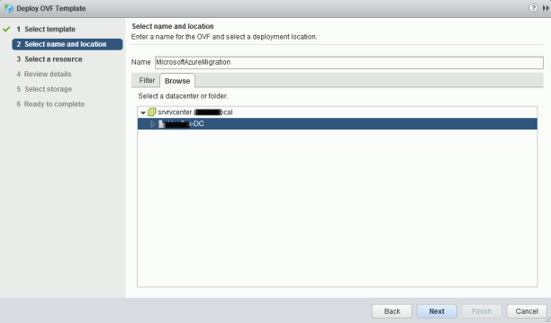 Deploy Appliance Azure Migration _10_2